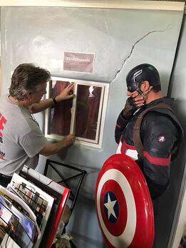 Captain Arizona talking Foundation Repair with Captain America