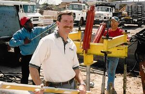 Foundation Repair Expert Bob Brown on a Jobsite in the 1990s