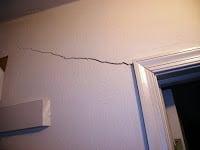 drywall crack foundation problem