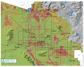 Metro Phoenix Clay Soil Map - Expansive Soil
