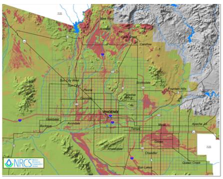 Phoenix, Arizona Clay Soil Map