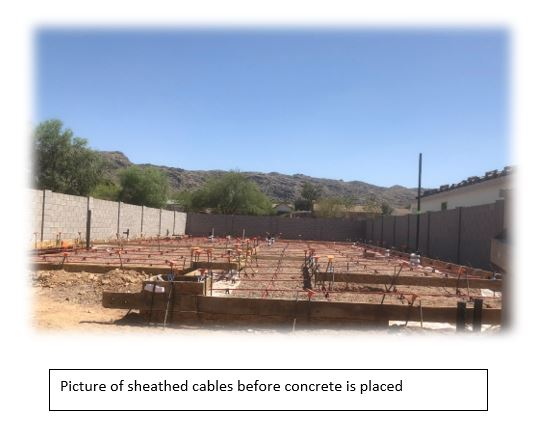 PT Cables before the Foundation Slab is Poured